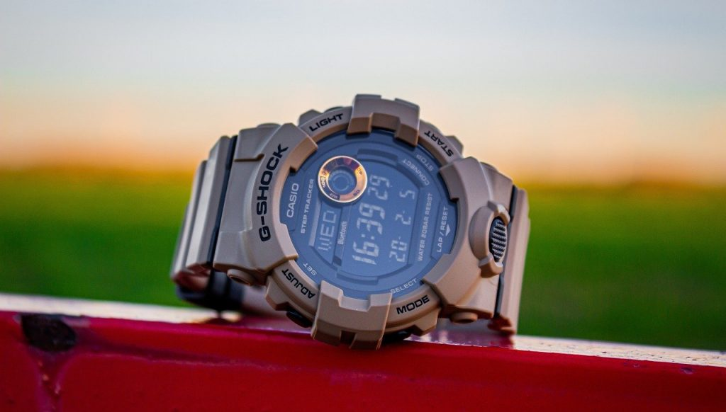 Khaki G-Shock military watch