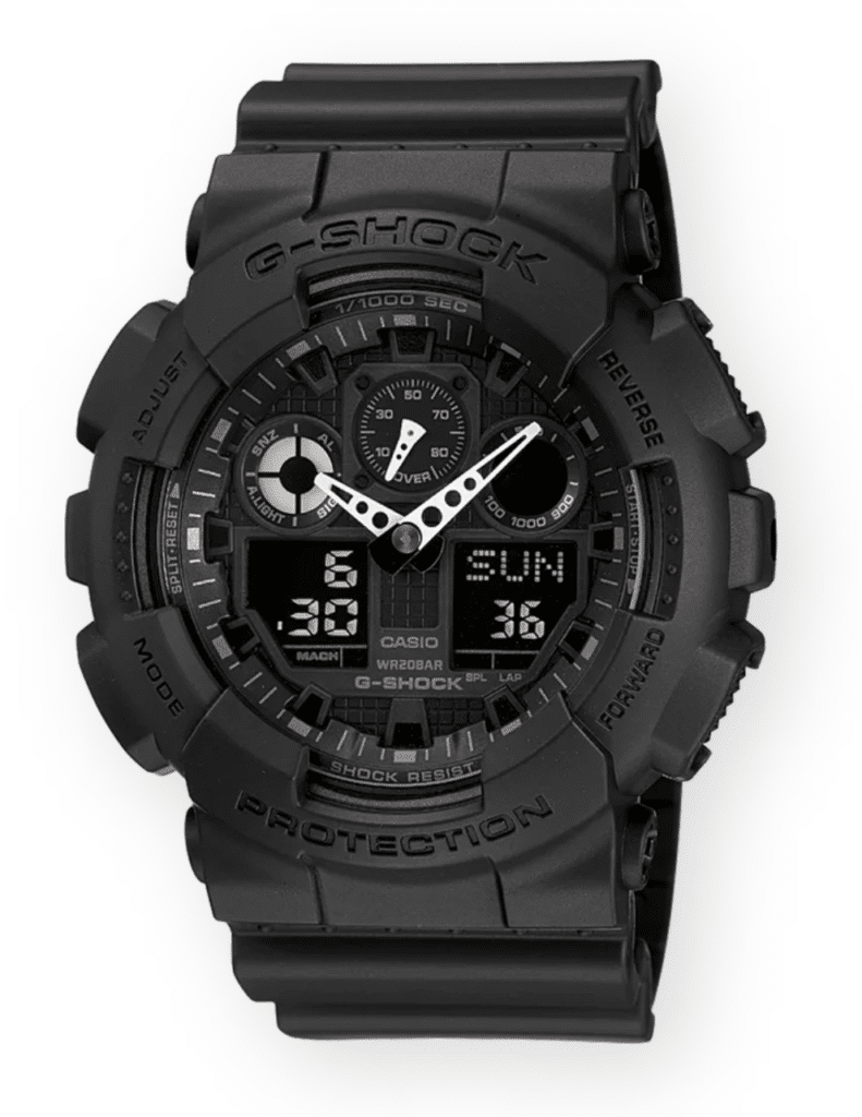 All-black simple yet functional g-shock watch