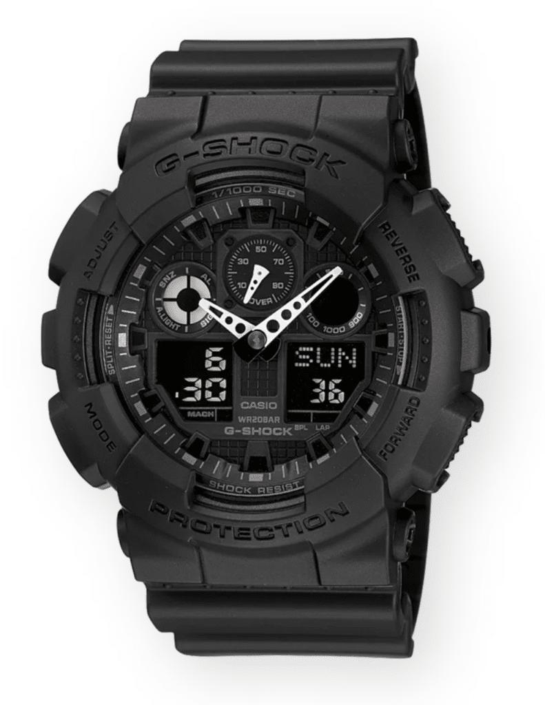 All-black simple yet functional g-shock watch