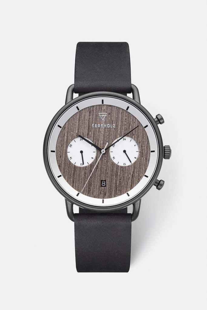 brown dial with leather straps
