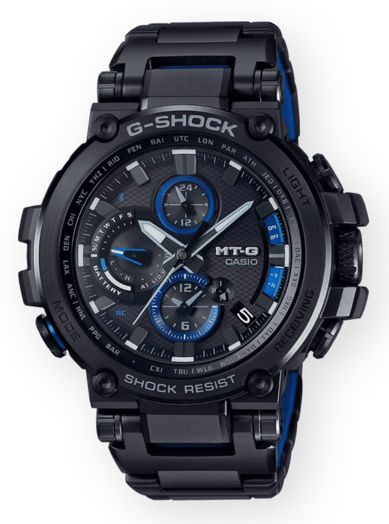 All-black with blue bits G-Shock MTG series rugged watch