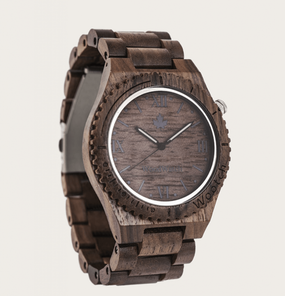 all-brown wooden watch