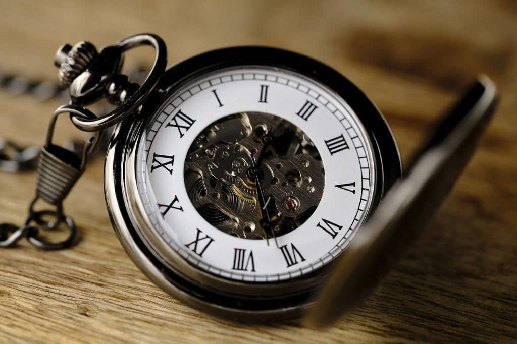 mechanical movement old pocket watch