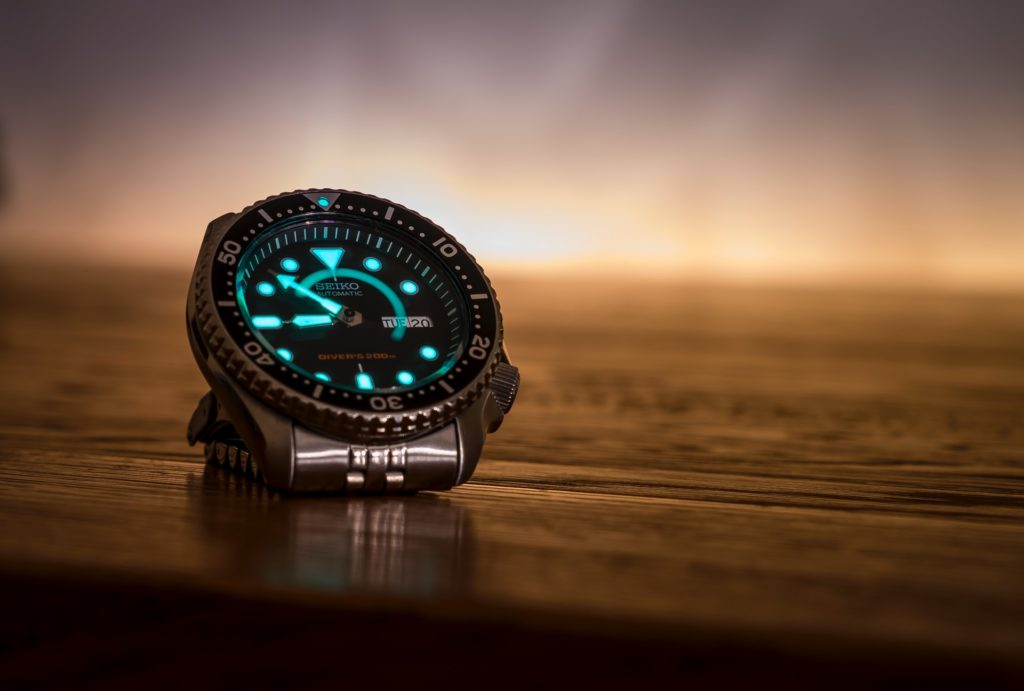 one of the real military watches with luminous hands and marks