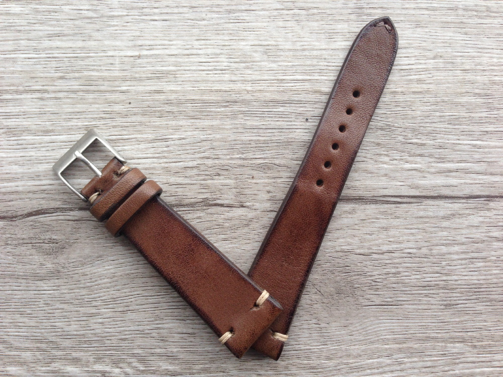 brown leather straps