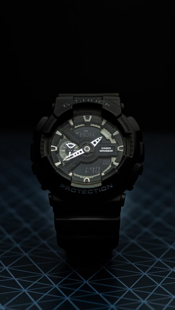 black robust g-shock watch
