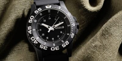black rough military watch