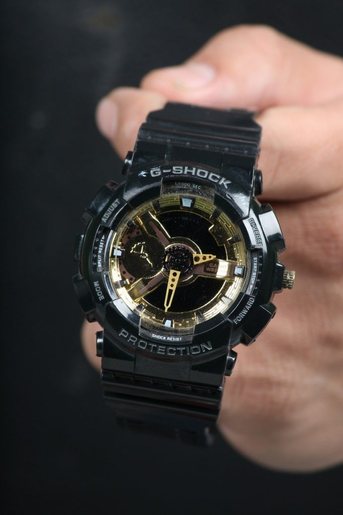 g-shock tactical watch with rugged looks