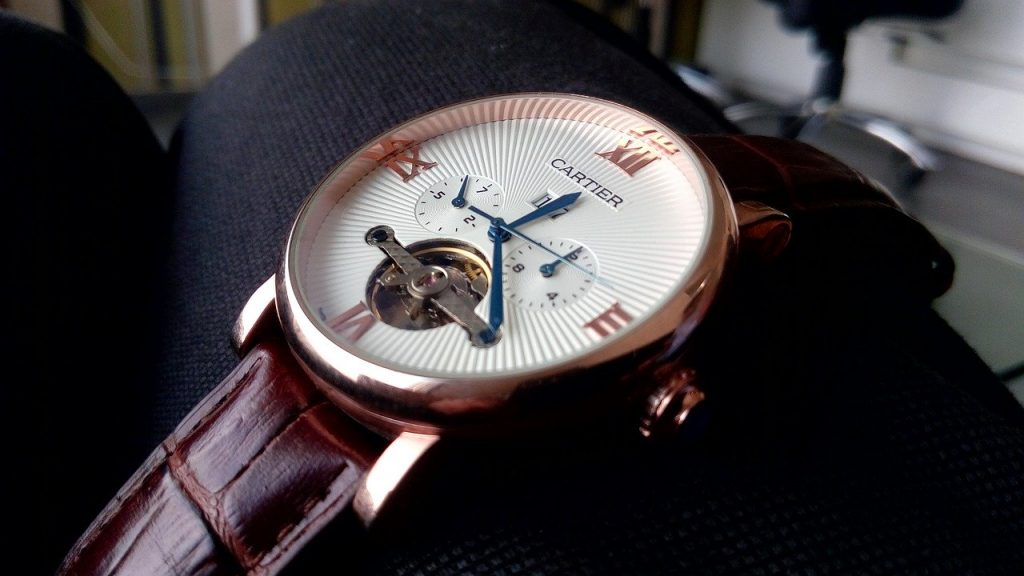 cartier tourbillon luxury watch