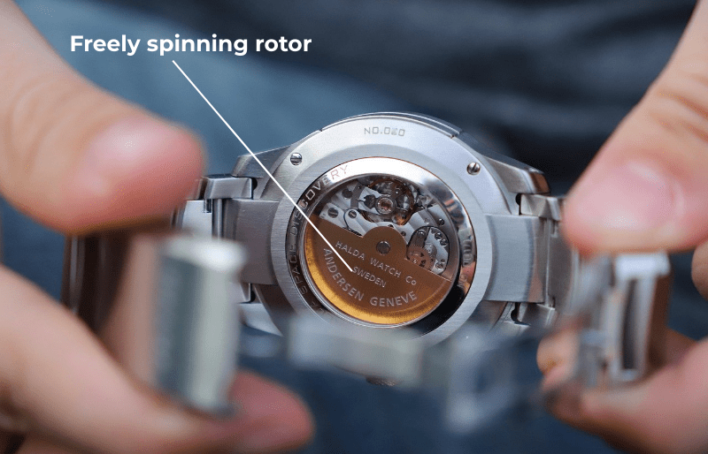 automatic watch rotor for energy creation