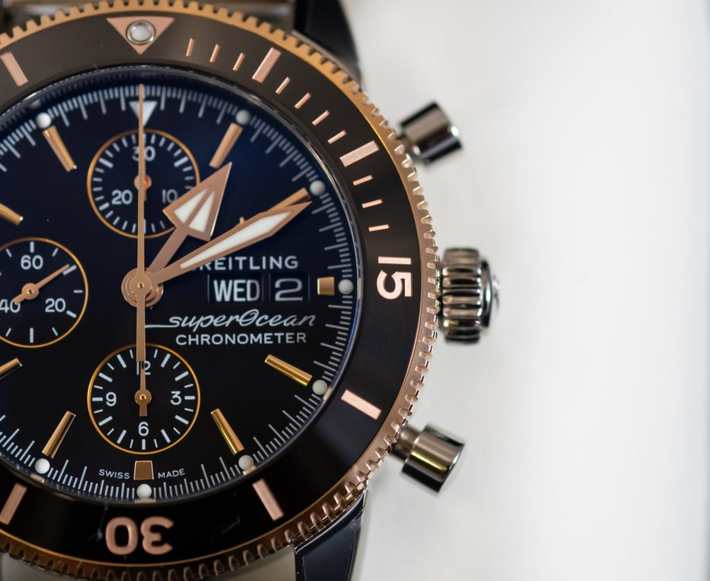 expensive and luxurious watch with rich dial