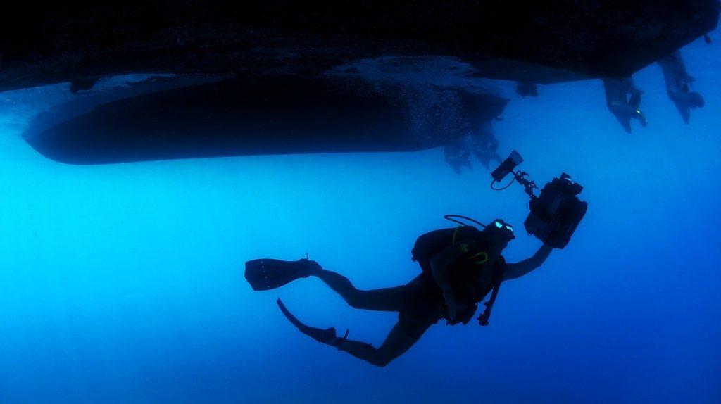 navy diver underwater