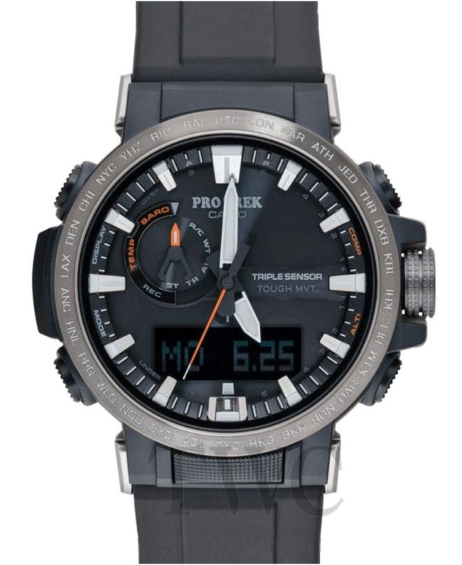 Gray military-style Pro Trek handwatch
