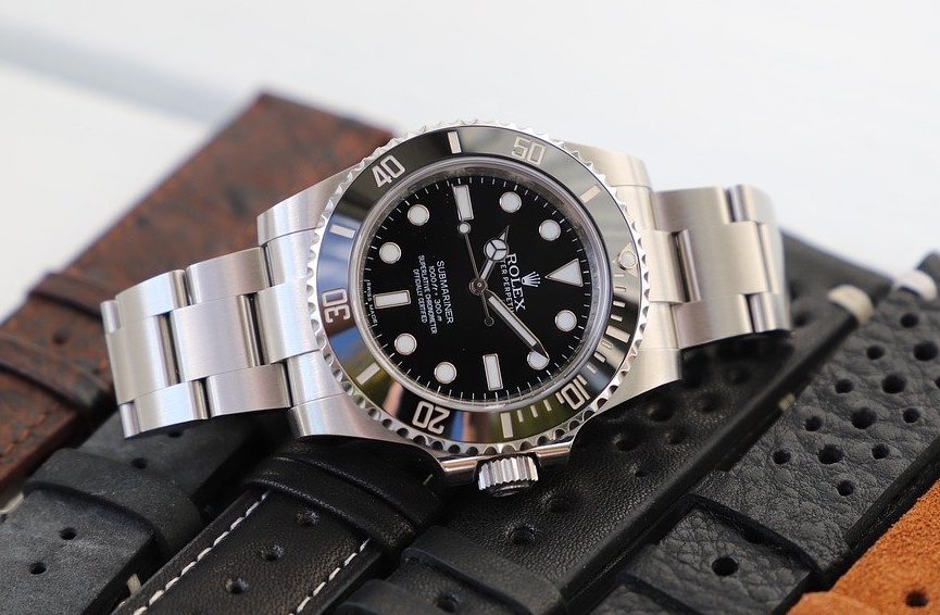 Different types of watches including Rolex