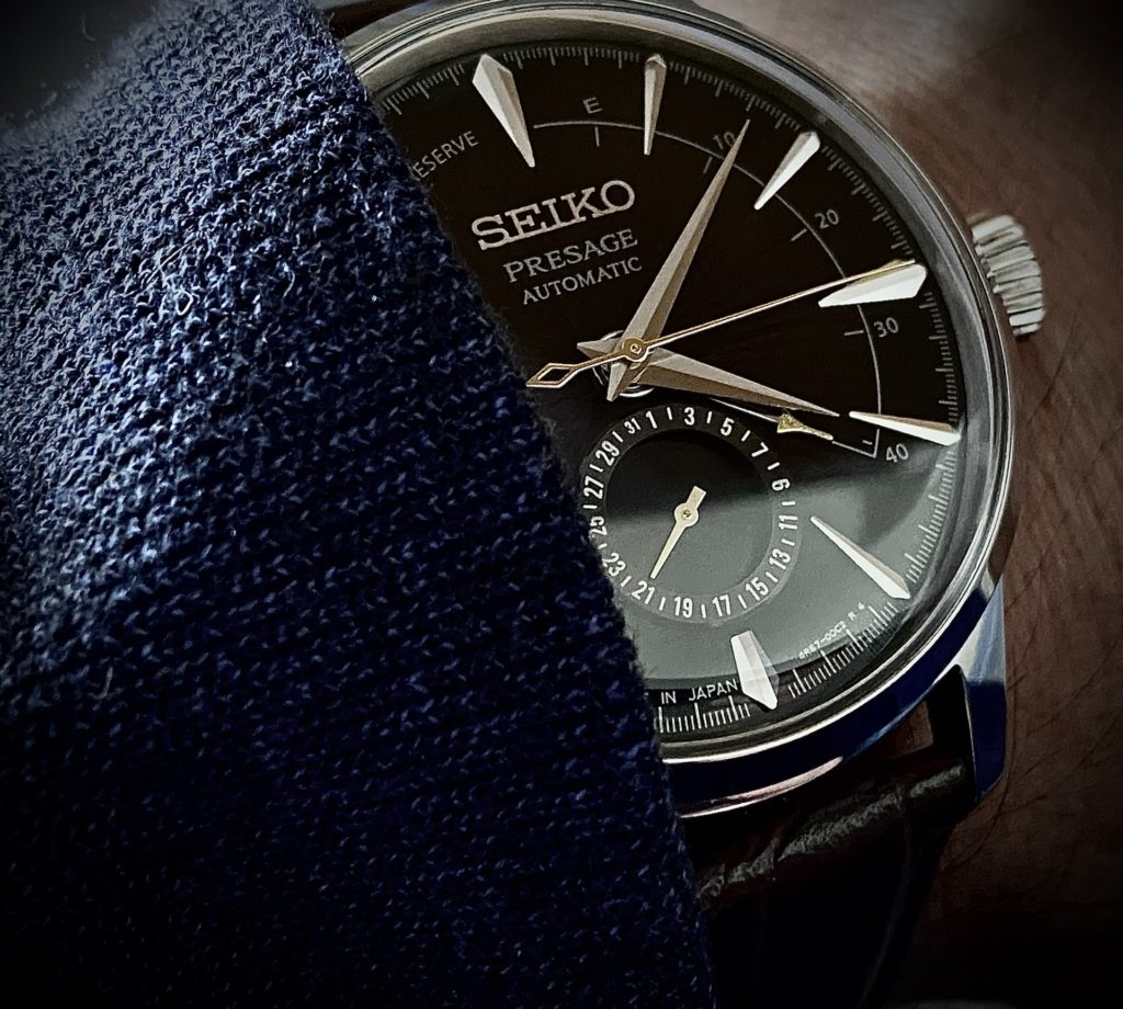 stylish Seiko watch with automatic movement