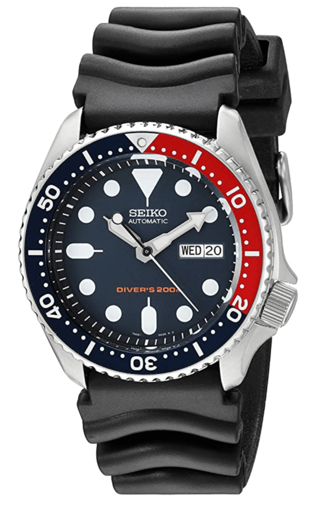 Seiko's military dive watch with a Pepsi dial