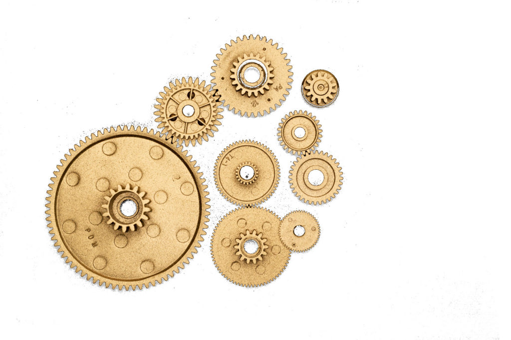 golden gears for watch movement