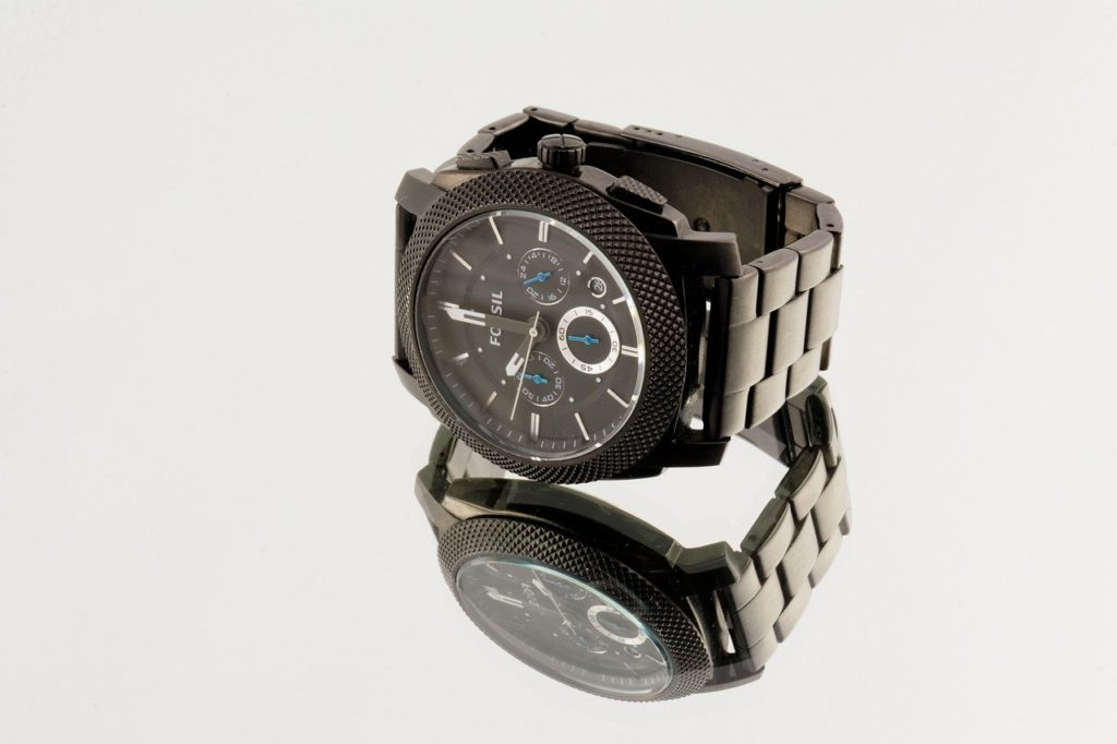 Fossil mineral crystal watch
