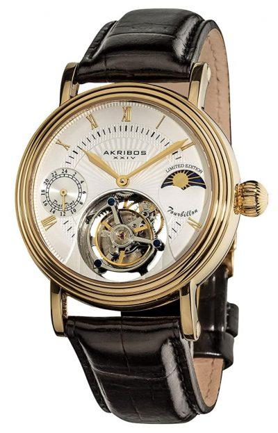 tourbillon-featuring classic golden watch
