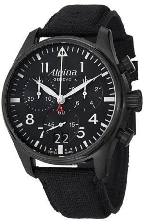 Swiss sapphire crystal timepiece from Alpina