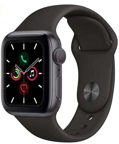 Black rectangular Apple Watch