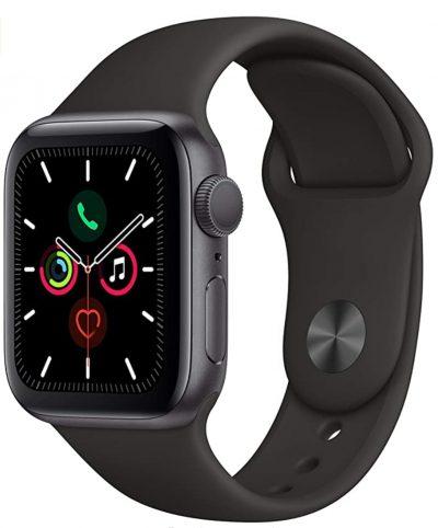 Black rectangular Apple Watch