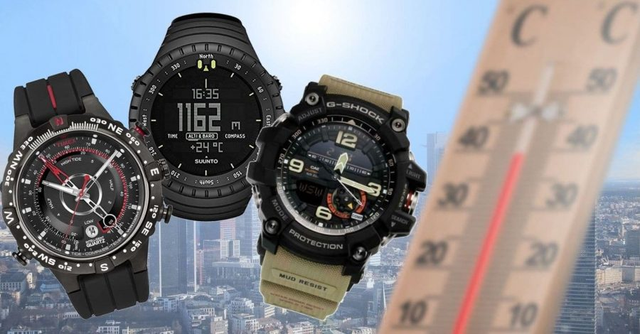 watches with thermometer