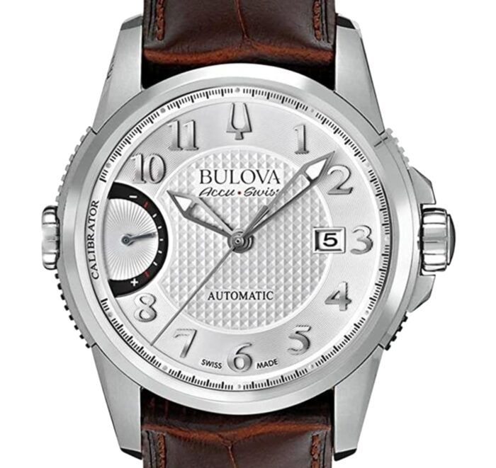 Silver-toned analog Swiss-made watch from Bulova