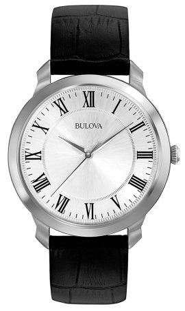 Classic Bulova dress watch with silver dial