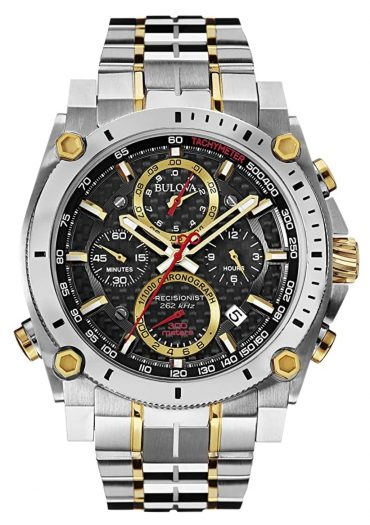 Bulova Precisionist watch with sweep second hand