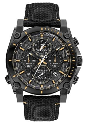 A complete chronograph watch with high-accuracy quartz