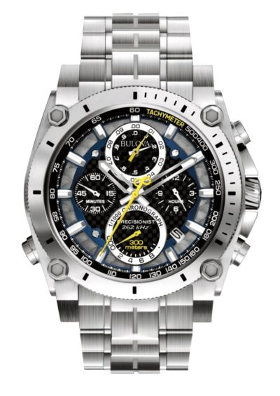 Silver-toned large Bulova Precisionist watch
