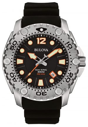 Bulova professional dive watch with orange indices