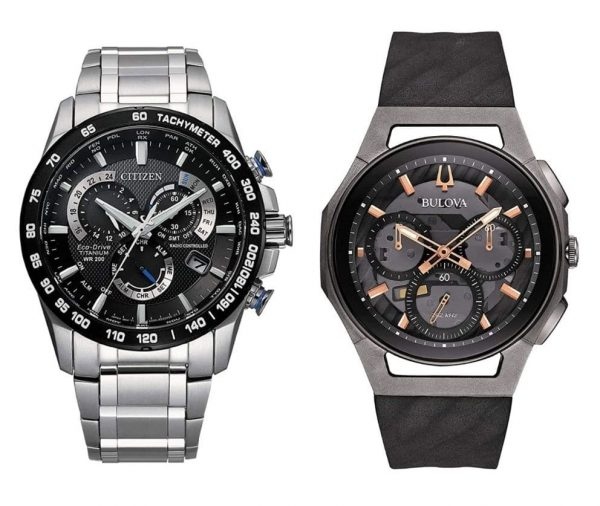 Bulova and Citizen titanium sapphire watches