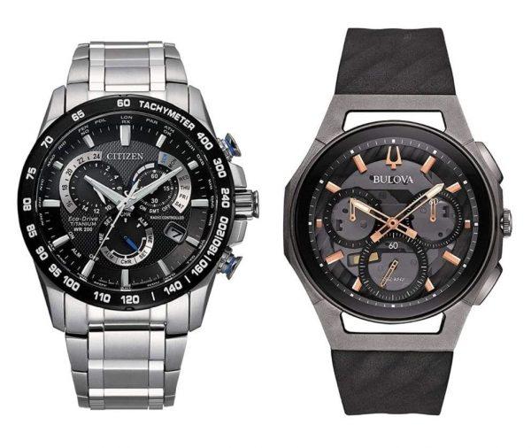 Bulova and Citizen titanium sapphire watches