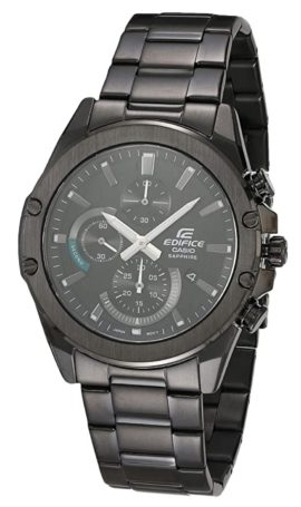 Casio chronograph watch with sapphire glass