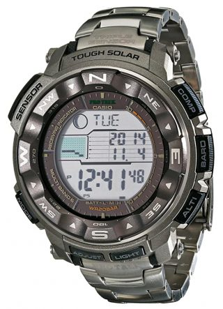 Casio outdoor watch with atomic precision