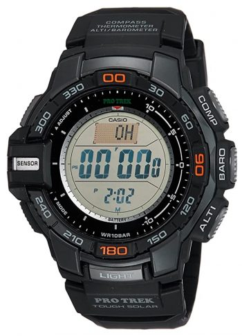 Digital sports watch with tough construction