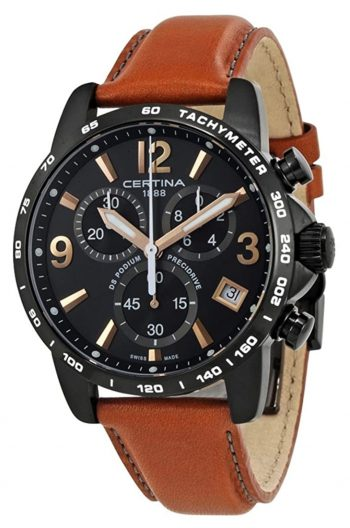 masculine Certina watch with small dials