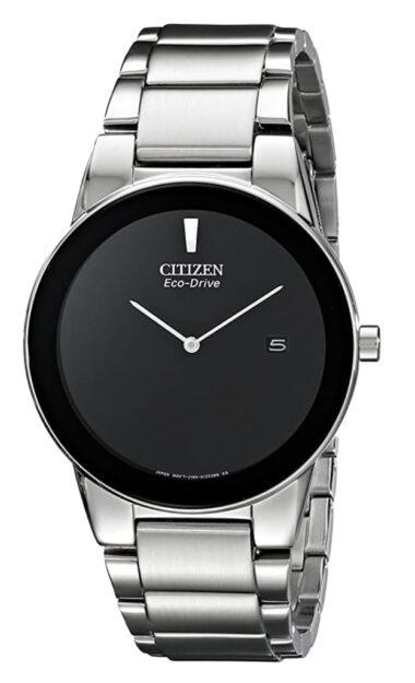 Minimalistic watch with black empty dial