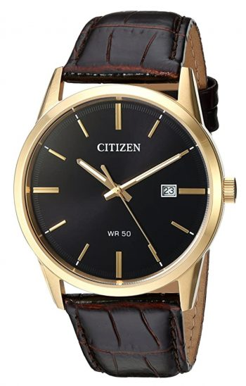 Citizen watch with gold-toned case and analog dial