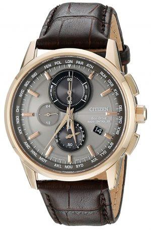 Citizen atomic solar watch with golden case