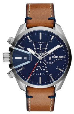 Dressy Diesel watch with left-handed pushers