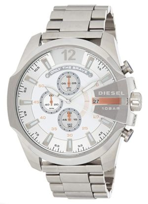 Silver-tone Diesel big face watch