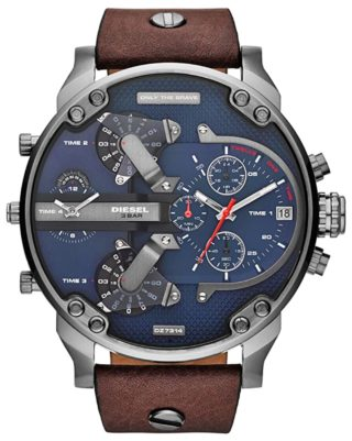 Oversized Diesel watch with multiple time counters