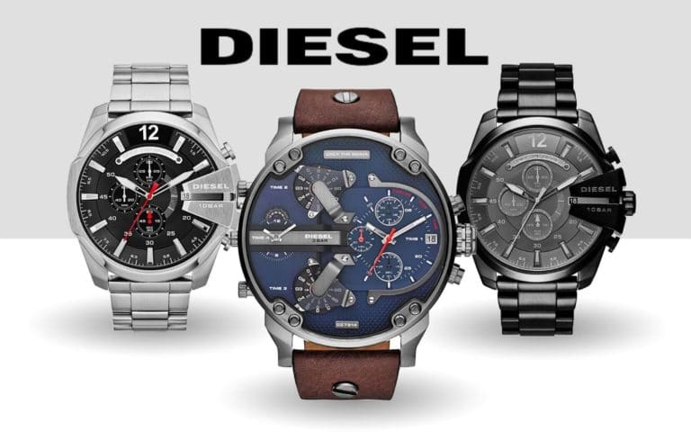 Diesel big face watches