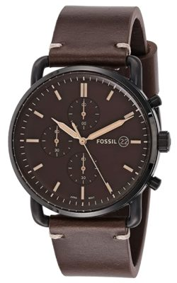 Casual yet dressy timepiece with leather strap
