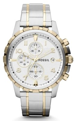 Chronograph timepiece with white face