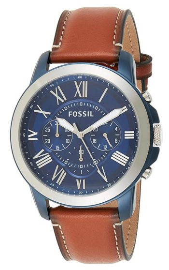 Fossil watch with Roman numerals