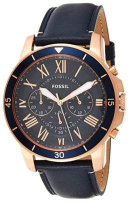 One of the top men's Fossil watches with Roman numerals